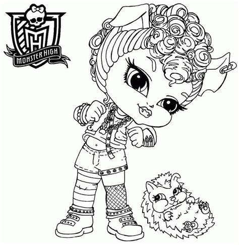 coloring pages monster high baby printable colouring sheets cartoon monster high baby