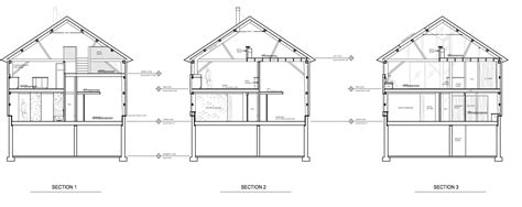 residential building section residential building plan and section view modern house