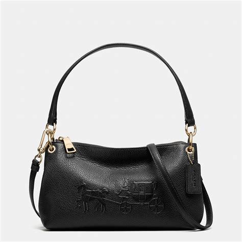 Coach Emboss coach embossed and carriage crossbody in