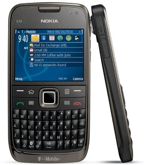 nokia qwerty phones nokia announces its e73 mode qwerty phone for t mobile