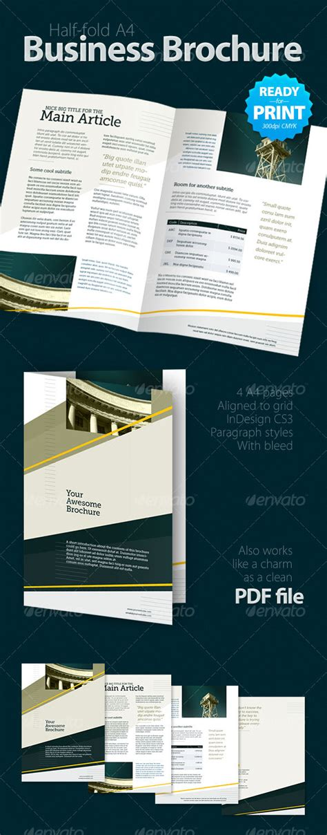 graphicriver brochure template print template graphicriver business brochure 4 pages