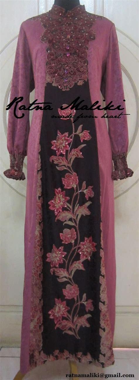 Muslim By Pandawa Bermotif Batik Satu Set Kemeja Plus Longdress gaun batik untuk muslimah
