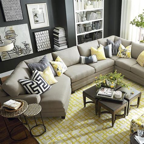 how to place pillows on a sectional best 25 sectional sofa layout ideas on pinterest coffee