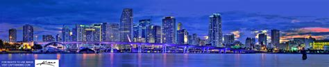 Beach Wall Mural miami city downtown skyline panoramic hdr photo after