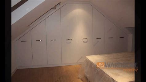 attic wardrobes ikea fitted wardrobes sloping loft room white slab