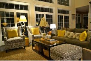 Gray And Yellow Living Room by Yellow And Gray Rooms Deborahwoodmurphy