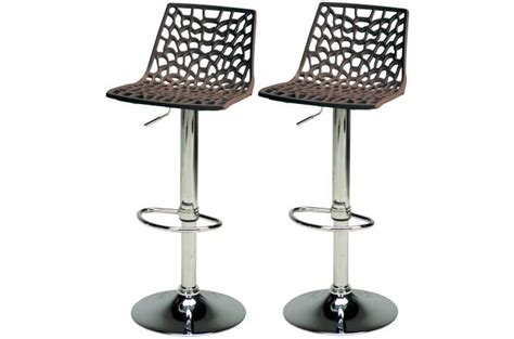 Lot Tabouret De Bar Pas Cher by Lot De 2 Tabourets De Bar Ajustables Marron Sparte
