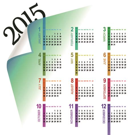 calendar design 2015 vector free download creative calendar 2015 vector design set 08 over