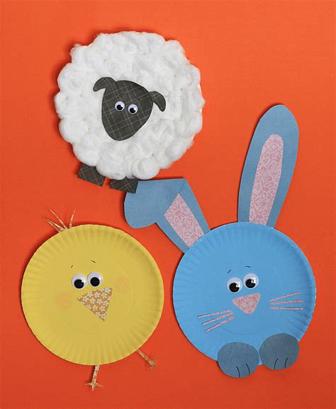 Crafts With Paper Plates - paper plate easter characters 183 kix cereal