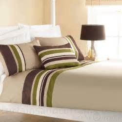Green Bedding And Curtains Yale Lime Green Brown Striped Print Duvet Cover Stripe Print Duvet And Brown Duvet Covers