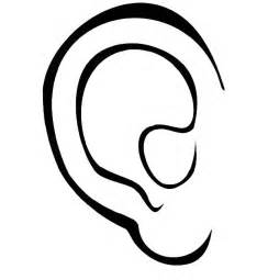 ear coloring page ears pictures for clipart best