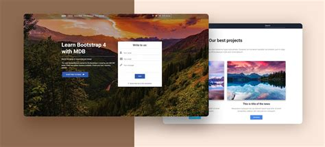 Free Bootstrap 4 Templates Stunning Responsive Material Design Themes Material Design For Angular Landing Page Template