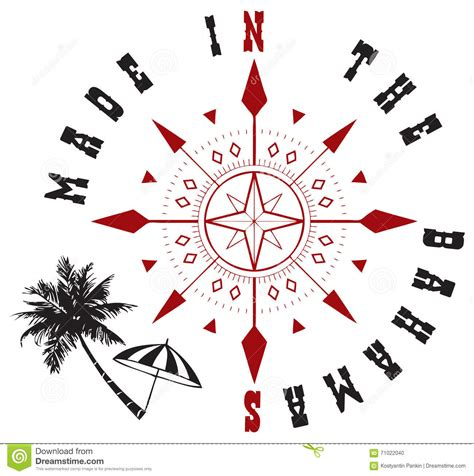 decorative symbols decorative symbol made to bahamas stock vector image