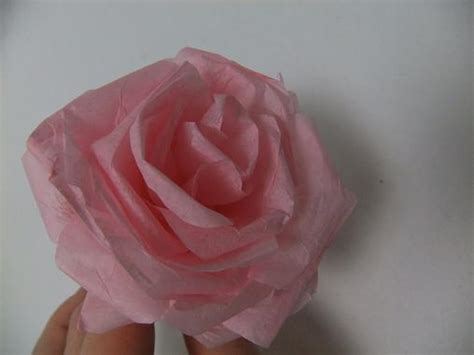 Roses With Tissue Paper - tutorials paper flowers