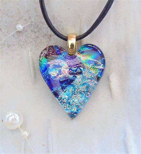 dichroic glass jewelry fused dichroic glass pendant necklace glass jewelry