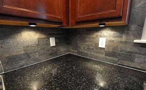 Slate Backsplashes For Kitchens Black Countertop Slate Brick Backsplash For The Home Pinterest Countertop And Slate