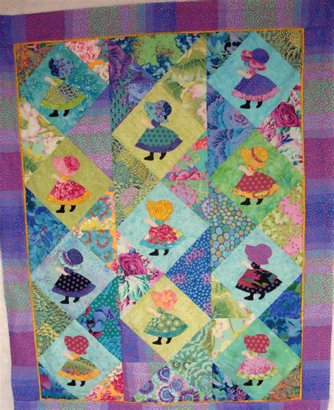 Sue Bonnet Quilt by Sunbonnet Sue Quilt Quilting Sun Bonnet Sue