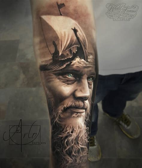 did ragnar have tattoos on his head last year king ragnar viking ship best tattoo ideas designs