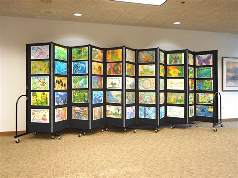 art display systems affordable education art display system screenflex room