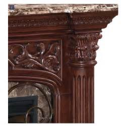 marble top electric fireplace classic astoria wall mantel electric fireplace with