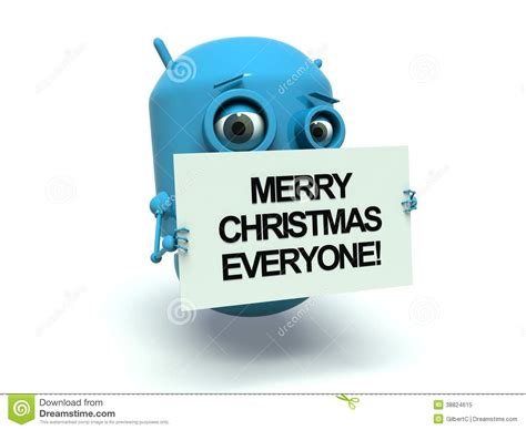 robot merry christmas  stock illustration illustration  jolly card