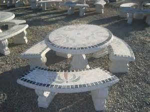 Concrete Patio Tables And Benches Pwp Landscape Architecture Concrete Patio Tables And Benches