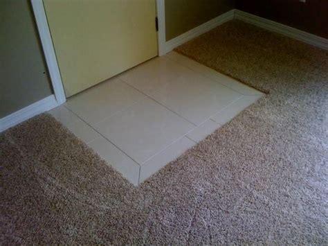 carpet ceramic tile transition 17 best images about living room on carpets