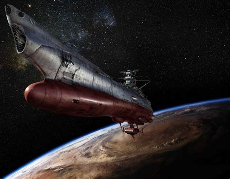 cartoon with boat in space space battleship yamato anime sci fi science fiction