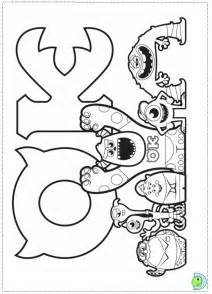 Monster University Logo Coloring Page Monsters  sketch template