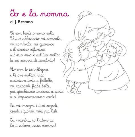 lettere per la nonna poesia per la nonna io e la nonna