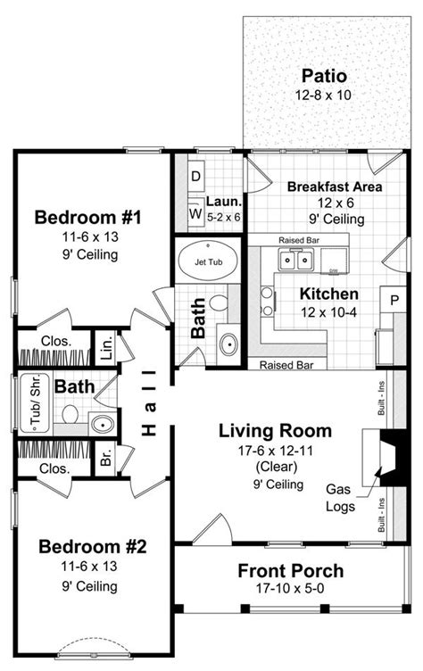 2br House Plans Small House 2br 2ba Floor Plans The Laundry House And Small Houses