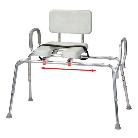 snap n save sliding transfer bench snap n save padded sliding transfer bench with cut out