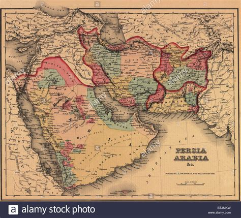 Geography Of Ottoman Empire 1855 Map Clearly Shows The Political And Cultural Geography Of The Stock Photo Royalty Free