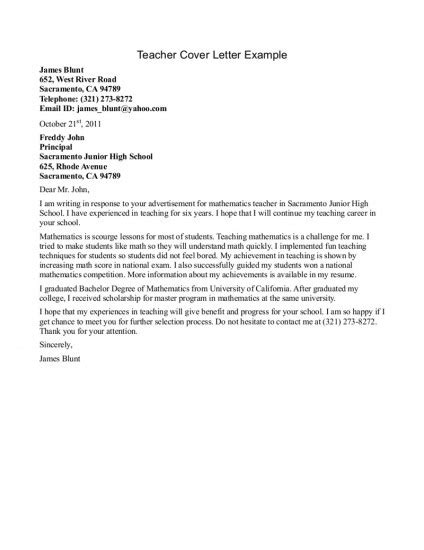 Cover Letter For Math by 13 Best Cover Letters Images On