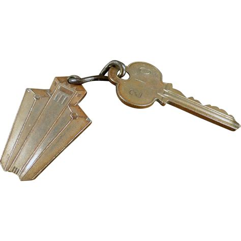 room key vintage hotel room key with metal tag of san francisco from ogees on ruby