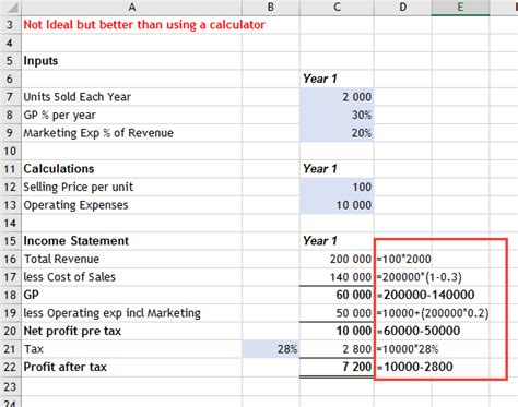 tutorial excel calculation create calculations in excel stop using your calculator