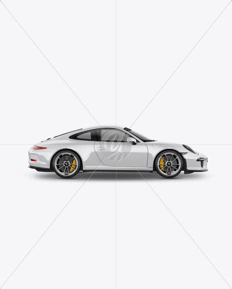 yellow porsche side view porsche 911 r mockup side view in vehicle mockups on