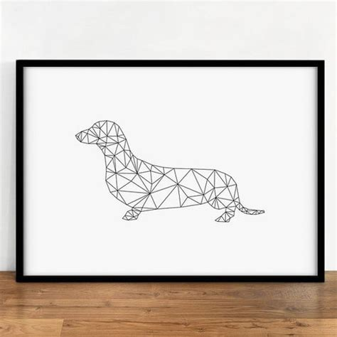 digital tattoo printer dachshund print animal wall decor digital dog wall art