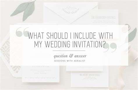 aerialist press what to include with my wedding invitation - What Should I Include In My Wedding Invitations