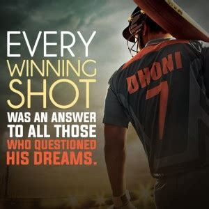 ms dhoni s inspirational poem ms dhoni movie review a cocktail of reality romance