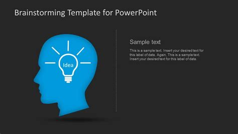 Dark Brainstorming Powerpoint Template Slidemodel Brainstorming Template Powerpoint