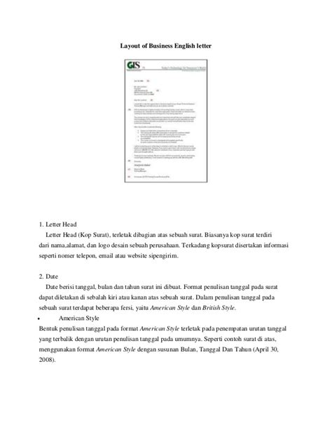 layout of letter slideshare layout of business english letter