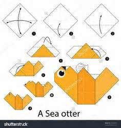Origami Otter - step by step how to make origami an asian