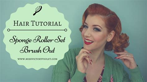 natural hair tutorial making your roller set youtube sponge roller set brush out vintage hair tutorial youtube