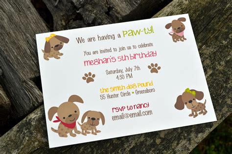 pet themed kids parties best kids party supplies kids puppy dog party invitations kids birthday party