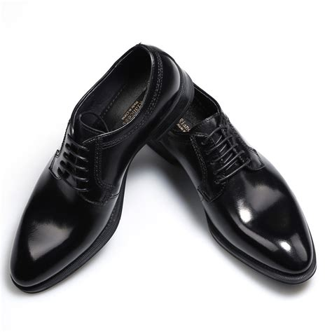 2016 fashion lace up cool black dress shoes casual
