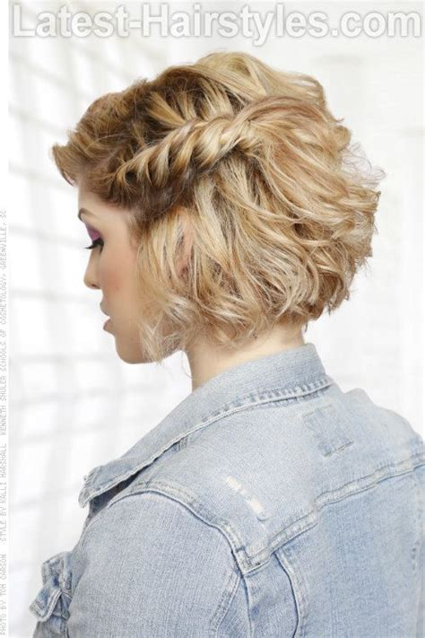 bob haircut with plait 17 best ideas about curly bob hairstyles on pinterest