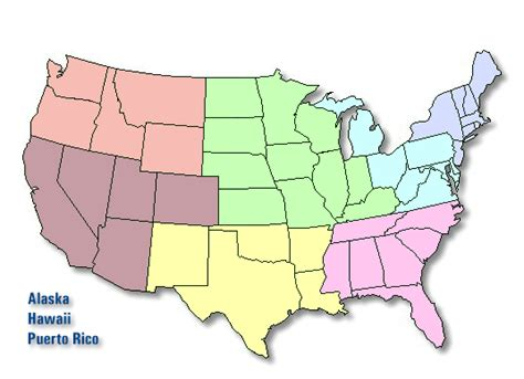 map usa by region regional offices federal trade commission