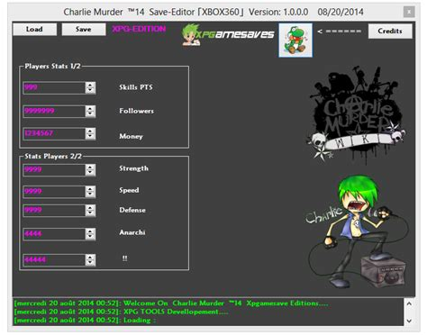mod xbox game saves v1 charlie murder save editor team xpg xbox 360 mod