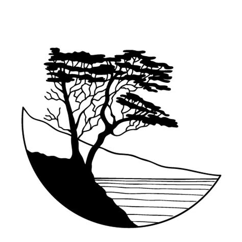 lone tree coloring page cypress tree drawing
